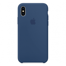 Чехол Apple Silicone Case для iPhone X Blue Cobalt