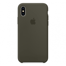 Чехол Apple Silicone Case для iPhone X Dark Olive