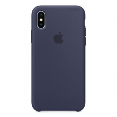Чехол Apple Silicone Case для iPhone X Midnight Blue