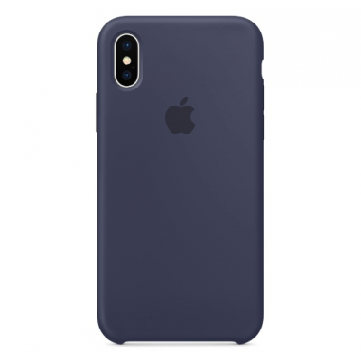 Чехол Apple Silicone Case для iPhone X/Xs Midnight Blue