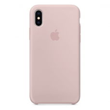 Чехол Apple Silicone Case для iPhone X/Xs Pink Sand
