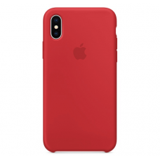 Чехол Apple Silicone Case для iPhone X Red