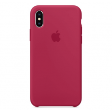 Чехол Apple Silicone Case для iPhone X Rose Red