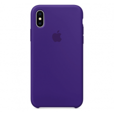 Чехол Apple Silicone Case для iPhone X Ultra Violet