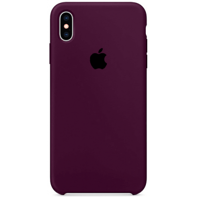 Чехол Apple Silicone Case для iPhone X/Xs Marsala (Винный)