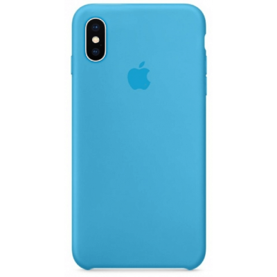 Чехол Apple Silicone Case для iPhone X/Xs Blue