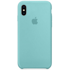 Чехол Apple Silicone Case для iPhone X/Xs Sea Blue
