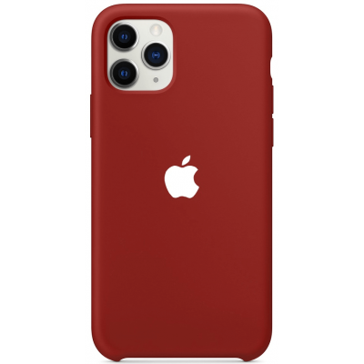 Чехол Apple Silicone Case для iPhone 11 Pro Max Dark Red