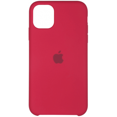 Чехол Apple Silicone Case для iPhone 11 Pro Max Rose Red
