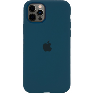 Чехол Apple Silicone Case для iPhone 12 Pro Max Cosmos Blue