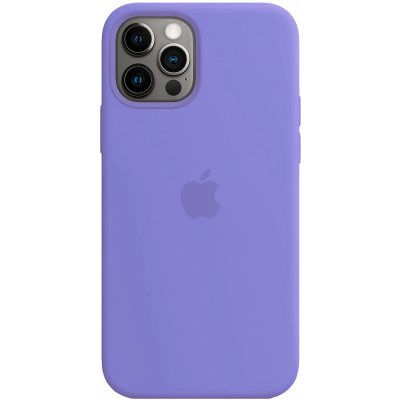 Чехол Apple Silicone Case для iPhone 12 Pro Max Light Purple