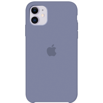 Чехол Apple Silicone Case для iPhone 11 Lavender Gray