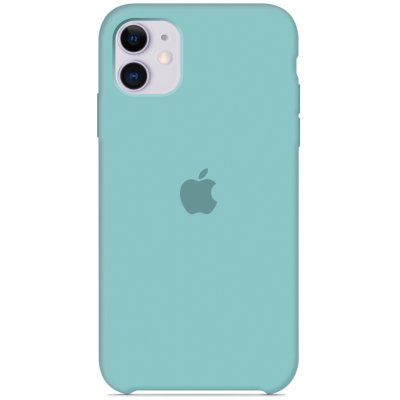 Чехол Apple Silicone Case для iPhone 11 Sea Blue