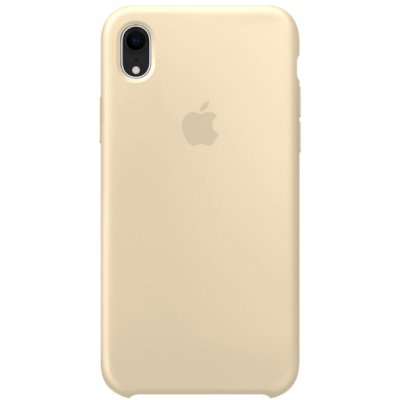 Чехол Apple Silicone Case для iPhone XR Antique White