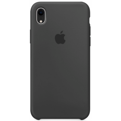 Чехол Apple Silicone Case для iPhone XR Charcoal Gray