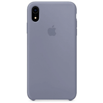 Чехол Apple Silicone Case для iPhone XR Lavender Gray