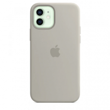 Чехол Apple Silicone Case для iPhone 12 Stone