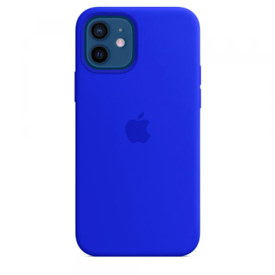 Чехол Apple Silicone Case для iPhone 12 Ultramarine