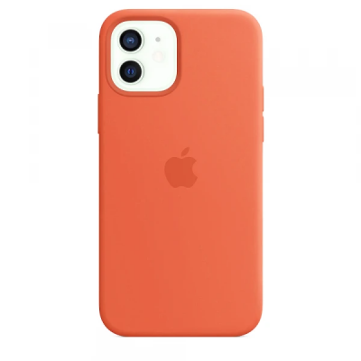 Чехол Apple Silicone Case для iPhone 12 Orange