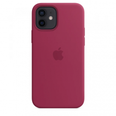 Чехол Apple Silicone Case для iPhone 12 Rose Red