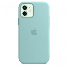 Чехол Apple Silicone Case для iPhone 12 Sea Blue