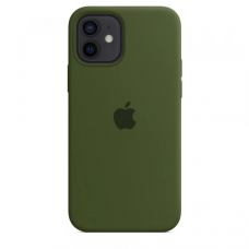 Чехол Apple Silicone Case для iPhone 12 Virid (Xaki)