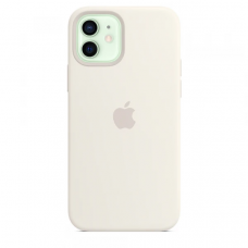 Чехол Apple Silicone Case для iPhone 12 White