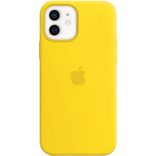 Чехол Apple Silicone Case для iPhone 12 Yellow