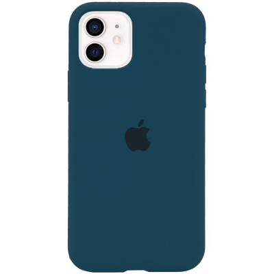 Чехол Apple Silicone Case для iPhone 12 Cosmos Blue