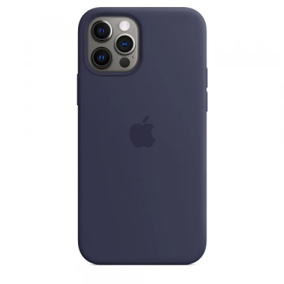 Чехол Apple Silicone Case для iPhone 12 Pro Max Midnight Blue