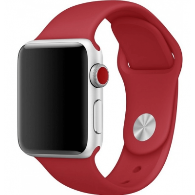 Ремешок Apple Watch Sport Band 42 mm/44 mm Dark Red